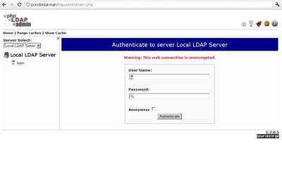 Login LDAP Server via phpldapadmin