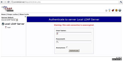 Login LDAP Server via phpldapadmin